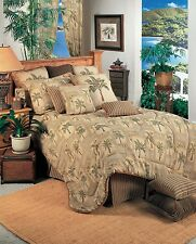 Palm Grove Tropical Palm Tree Bedding Comforter Set ~ Twin Full Queen or King