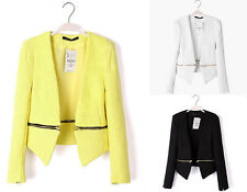 UK NEW BNWT Yellow Black White Boucle Zipper Zip Blazer Jacket Coat 6 8 10 12