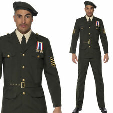 Adults Wartime Army Officer Uniform Outfit - Mens 1940s Fancy Dress Costume