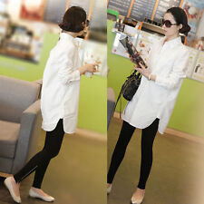 Fashion Womens Casual Career Loose Long Sleeve Tops Blouse T-shirt Plus Size