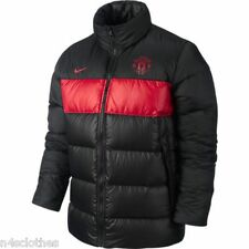 Nike Manchester United Mens Padded Jacket Puffer Coat Black Man Utd Size S - XXL