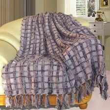 """BNF Home Multi Color Chenille Couch Throw Blanket Light Weight Warm Decor 50x60"""""""