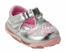 NEW GIRLS SILVER PARTY WEDDING BRIDESMAID FORMAL SHOES INFANTS TODDLERS SIZE 2-7