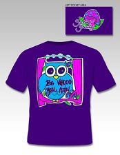 NEW Hot Gift Sassy Frass Funny Be Who you are Owl Sweet Girlie Bright T Shirt
