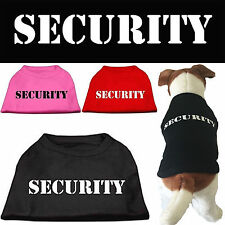 Dog Clothes SECURITY Screen Print T Shirt Tee for Dogs BIG SIZES 4XL-6XL USA