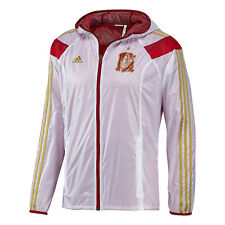 adidas Spain World Cup WC 2014 Soccer Woven Hooded Presentation Jacket White