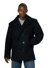 Mens Coat - Wool Blend US Navy Type Pea Coat, Navy Blue by Rothco S M L XL 2X 3X