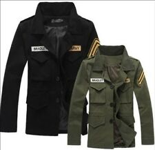 New VINTAGE CLASSIC Slim Fit Military Jacket men Cotton-padded clothes COAT