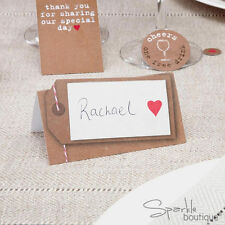 VINTAGE-STYLE WEDDING PLACE CARDS -Retro Luggage Tag Design- FULL RANGE IN SHOP!