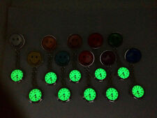 nurse fob watch new smiley face stainless steel luminous glow in dark vintage