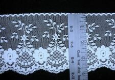 "Light Blue 4"" W Flat Lace Polyester Sewing Trim or Mint Green Per 2 Yd"