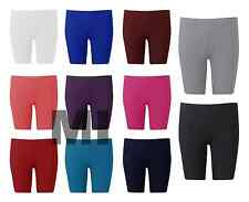 Womens Hot Pants Neon Cycling Shorts Knee Length Fitted Leggings Plus Sizes 8-26