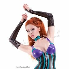 Westward Bound R341 RUBBER LATEX FETISH CLOTHING LONG MITTS *Black* ACCESSORY