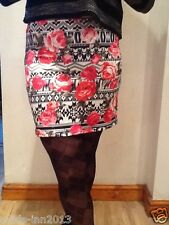 PRIMARK BODYCON SKIRT STRETCHY COLOURFUL SIZE 10,12,14,