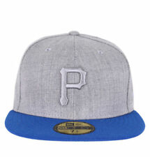 NEW ERA 59FIFTY POPTONAL PITTSBURGH PIRATES MENS CAP HEATHER/BLUE