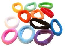 10 Endless Ponytail Toweling Type Fabric Elastic Hair Bands - Hair Accessories
