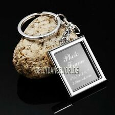 RECTANGULAR PHOTO PICTURE FRAME KEYCHAIN KEY CHAIN RING FOB WEDDING FAVORS GIFT