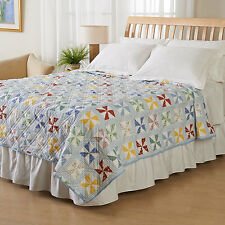 Ashley Cooper Windmill Print quilt in TWIN, QUEEN or KING Sizes