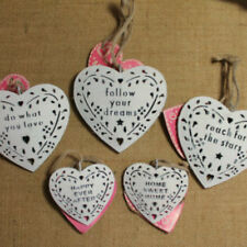 Shabby Chic Metal Heart Hanging Wall Decoration Inspirational Home Wedding Gift