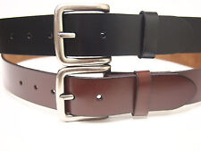 HEAVY DUTY SOLID LEATHER BELT PURE GENUINE LEATHER 100% COWHIDE MADE IN USA