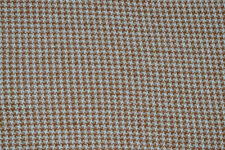 DOGTOOTH JAQUARD POLY COTTON TAUPE & ECRU JERSEY FABRIC PER METRE CLEARANCE ITEM