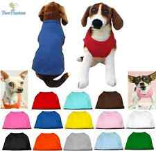 Dog Clothes Plain Blank T Shirt Tank Tee for Dog Dogs Puppy Xs-6Xl Made In Usa