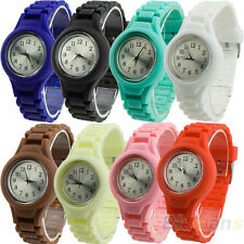 Hot Sale Unisex Silicone Band Jelly Gel Quartz Analog Sports Wrist Watch B58U
