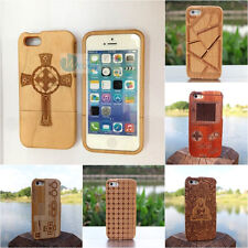 Quality Real Natural Bamboo Wood Wooden Engraving Case For iPhone5 5s Back Cover