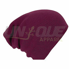 MENS LADIES UNISEX WINTER WOOLLY BEANIES BAGGY SLOUCH COOL OVERSIZED HAT CAPS