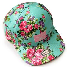 New Floral Pattern Hiphop Snapback Hat Man Women Unique Pretty Flower Rose Cap