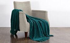BNF HOME Bedding Fluffy Knitted Light Throw Couch Cover Sofa Blanket Coverlet