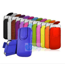 Magnetic PU Leather PULL TAB Pouch Skin Case Cover Wallet Bag For iPhone 5 5s 5c