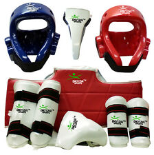 Taekwondo Sparring Gear Set, Groin Protector, Head Guard, Shin Guard, Arm Guard