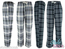 Mens Cargo Bay Cotton Flannel Checked Lounge Pants Pyjama Bottoms Perfect Gift