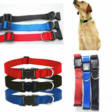 Adjustable Soft Fabric Pet Dog Puppy Collar with Buckle and Clip for Lead Leash