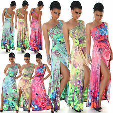 New Sexy Women Maxi Dress One Shoulder Ladies Party Girls Fashion Size 6 8 10 12