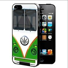 Weed Peace Mini Van Car Marijuana Rubber Cell Phone Case For iPhone 4 4s 5 5c