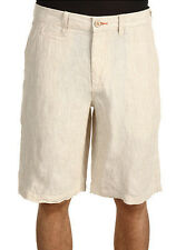 New Tommy Bahama Line Of The Times Linen Rope Pinstripe Flat Front Shorts