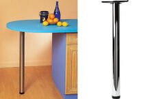 BREAKFAST BAR LEG 870 OR 710 BRUSHED CHROME KITCHEN WORKTOP TABLE LEG SUPPORT
