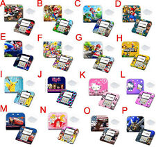 Mario Disney Cartoon Case Cover Skin+Front Sticker for Nintendo 2DS Game Console