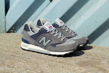 New Balance - 577GNA Made In England Trainer - Grey/Navy Blue RRP £100