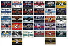 Football Decal Stickers Vintage Banner Complete Set of all 32 Teams NFL Licensed