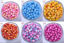 Top Mixed DIY Round Chic Glass Loose Spacer Charms Beads - Choose 4MM 6MM 8MM