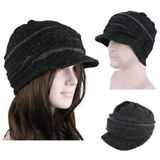 2014 Winter Brim BEANIE 3 Colors Mens Womens Fashion Cap Knit Crochet Rasta Hats
