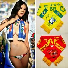 Brazil World Cup National Team Souvenirs Fans Scarf Football Soccer Lots Country