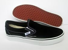 Vans Classic Slip On Black & White Mens Boy Shoes All Sizes 4.5-13