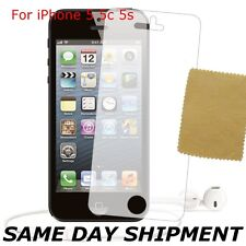 HD Clear LCD Screen Protector For Apple iPhone 5s 5c 5 + Cloth FREE HI QUALITY