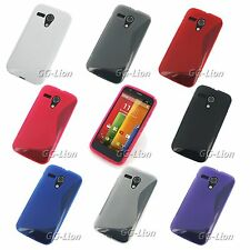 Gel TPU S-Line Rubber Silicone Skin Case Cover for Motorola Moto G ,DVX +Film