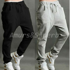 FASHION Men's Casual Harem Pants Baggy Hip Hop Dance Sweat Slacks Sport Trousers