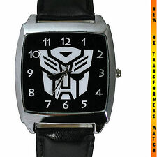 Transformers Autobot Fashion WRIST STEEL WATCH LEATHER DVD FILM GADGET UK PARTY